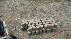 Bricks-the start of the raised bed